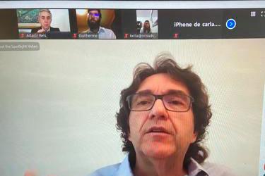 O Professor Fábio Ulhoa Coelho, um dos doutrinadores mais brilhantes em Direito Empresarial, foi recebido no café da manhã virtual do Instituto San Tiago Dantas de Direito e Economia.